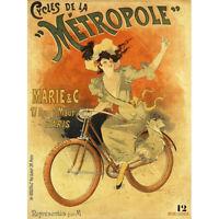 Baylac Metropole Cycles French Nouveau Advert Canvas Art Print Poster