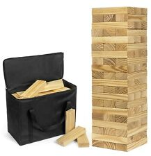 Big Large Wood Block Picnic Party Pool Tower Lawn Outdoor Jenga Game Giant Yard