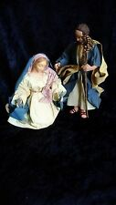 Clothtique by Possible Dreams Mary and Joseph Nativity Figures 9""