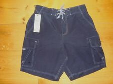 "BNWT MENS M&S BLUE SWIM SHORTS Size Small 30-32"" Waist Cotton Rich RRP £25"