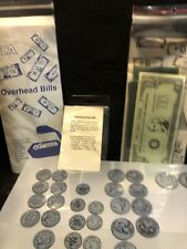 Large Lot Of Overhead Projector Money Bills And Coins One Package New & Complete