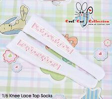☆╮Cool Cat╭☆【KS-P23】Blythe/Pullip Knee Print Socks(Lolita Musical Note)# Pink