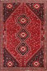 Vintage Tribal Geometric Abadeh Oriental Area Rug Hand-knotted Wool Carpet 8x10