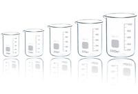 Borosilicate Glass Beakers Laboratory Glassware Beaker Sets Boro 3.3 Low Form
