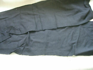 Black Textured Viscose Plain Dye Fabric Remnant Patchwork Quilting Craft F64