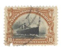Scott 299 Early US Stamp 10c Pan American...Ocean Navigation ...1901