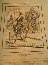 Caricature 1892 - Cimetières Parisiens Prendre son vélo facilité Pompes funèbres