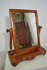 ANTIQUE VICTORIAN ADJUSTABLE WOOD FRAME TABLE MIRROR ENGLISH MADE
