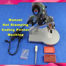Dy 8 Manual Hot Stamping Machine Ribbon Coding Date Batch Character Code Printer