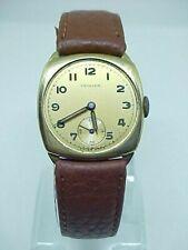 Antique 9ct solid gold Oriosa wrist watch cushion case