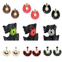 Womens Fashion Bohemian Earrings Long Tassel Fringe Dangle Earrings Jewelry Chic