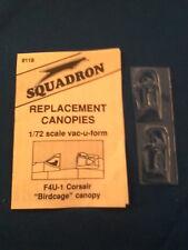 SQUADRON 1:72 CUPOLINO TRASPARENTE CLEAR CANOPY F4U-1 CORSAIR  ART 9119