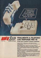 X3130 SIP il telefono che risponde per te - Pubblicità d'epoca - 1984 vintage ad