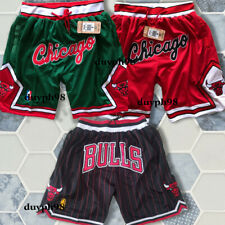 Chicago Bulls Shorts Pocket Zipper All Sewn