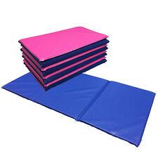 NEW 5 x Folding Nursery Sleep Mats Blue / Pink for Children & Toddlers