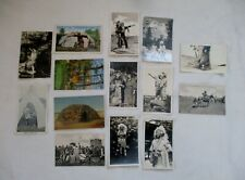 Lot of 14 Antique Native American Indian Postcards,