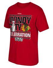 NWT New Chicago Blackhawks Reebok 2015 Youth Windy City Champs T-Shirt