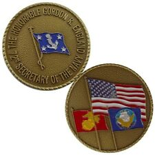Secretary of the Navy (72nd) Gordon R. England Challenge Coin