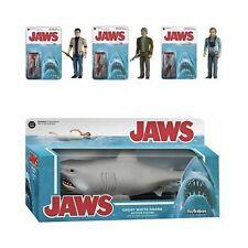 NIB Lot4 FUNKO JAWS Reaction Action Figures Movie Bruce Shark BRODY HOOPER QUINT