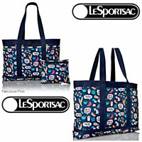 LeSportsac Food Talk Large Travel Tote Tokyo New York Paris Hong NWT Free Ship