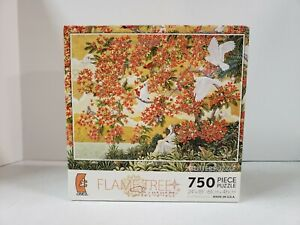 """NEW SEALED Ceaco 750 Piece  Puzzle Sato Flame Tree Shimmer Glitter  24""""x18"""""""