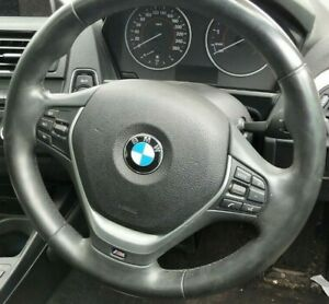 BMW F20 1-SERIES 118i STEERING WHEEL NON AIR BAG M-SPORT LEATHER BLACK 6/11-2/15