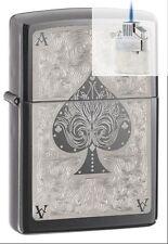 Zippo 28323 ace of spades filigree Lighter & Z-PLUS INSERT BUNDLE