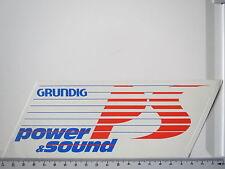 Aufkleber Sticker Decal Grundig - Power & Sound - PS (S1036)