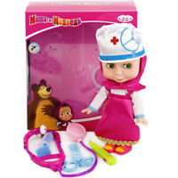 Masha Doll Plays in The Doctor with Toy Medical Accessories Talking in Russian