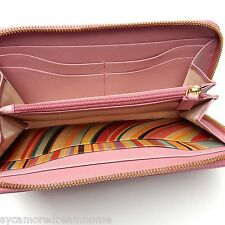 "NUOVO CON SCATOLA PAUL SMITH PS Rosa ""Swirl"" in Pelle Zip Intorno Purse Wallet Mamme Giorno Regalo"