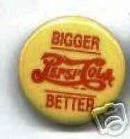 PEPSI-COLA advertising pin Bigger Better pinback button