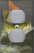 Bass Fish Home Wall Decor Outlet Cover