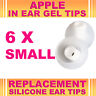 6x Silicone Replacement Small Gel Tips for Apple In Ear Buds Earphone Headphone