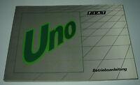 Betriebsanleitung Handbuch Fiat Uno 45 / 45S / 70S / 70SX  + Turbo i.e. 09/1989