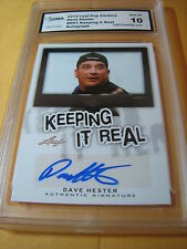 DAVE HESTER STORAGE WARS AUTO 2013 LEAF POP CENTURY KEEPING IT REAL DH GRADED 10