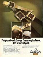1977 Original Advertising' American Vintage Omega Watch De Ville