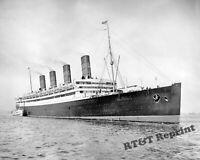 Photograph Vintage Steamship S.S. Aquitania White Star Line Year 1916   8x10