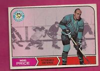 1968-69 TOPPS # 110 PENGUINS NOEL PRICE NRMT CARD  (INV#0493)