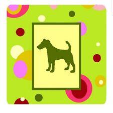 Fox Terrier Foam Coasters Set of 4 Multicolor Dogs Barware Decor