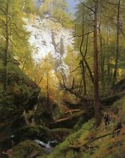 "Herman Herzog In the Woods Oil Painting repro 24""x36"""