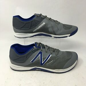 New Balance Minimus 20v5 Trainer Sneakers Womens 14 EE Gray Mesh Lace Up MX20MB5