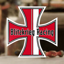 Blitzkrieg Racing Iron Cross Sticker Aufkleber Old School Cox Käfer rot 70mm