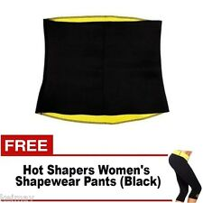 Hot Shapers Slimming Waist Belt with Hot Shapers Women's Shapewear Pants (Black)