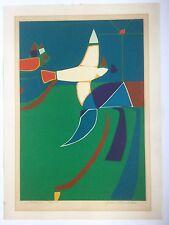 Luis Hernandez Cruz, Christmas Bird (Navidad) Serigraph 1975, Puerto Rico Art