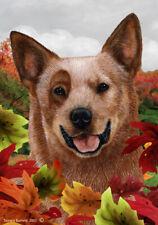 Fall House Flag - Red Australian Cattle Dog 13281