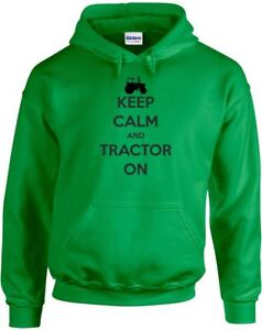 Keep Calm and Tractor On , Printed Hoodie