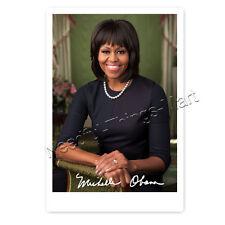 Michelle Obama -  Autogrammfotokarte laminiert [AK1]