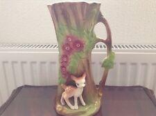 Vintage Eastgate Withernsea Fauna Tree Shaped Jug Vase with deer No 29