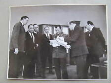 Press Photo 24cm x 18cm: Cosmonaut Yuri Gagarin with journalits, 9 April 1966