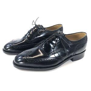 NEW Johnston Murphy Aristocraft Men Sz 7.5 3E Black Wing Tip Dress Shoe Brogue